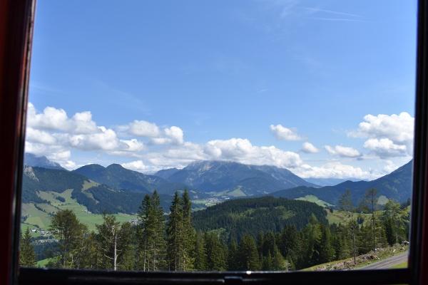 Bergblick aus der Bahn